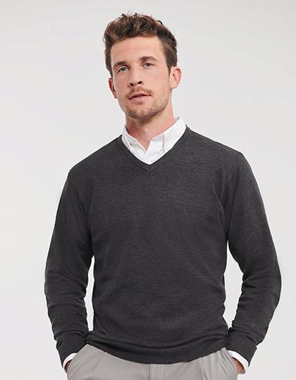 Men`s V-Neck Knitted Pullover